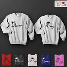 NEW DELUXE King & Queen Top Quality Sweatshirts HIS & HERS GREAT FOR CASUAL GIFT