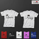 BRAND NEW DELUXE King &  Queen Top Quality T-SHIRTS HIS & HERS GIFTS AND CASUAL