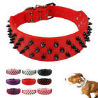 Didog Spiked Studded PU Leather Pitbull Dog Collars for Rottweiler Boxer M L XL