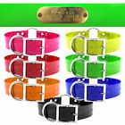"""Hunting Dog Name Collar Strap Heavy Duty Ring in Center 1 1/2"""" Wide Solid"""