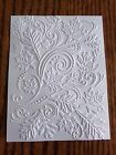FALL LEAVES SWIRL Embossed Card Stock - Set of 12 Sheets - A2 CARD Size