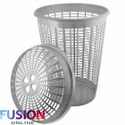 PLASTIC LARGE LAUNDRY WASHING CLOTHES LINEN STORAGE BIN BASKET 58 LITRE WITH LID