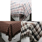 Household Grid Pattern Rectangle Tablecloth 135 x 200cm