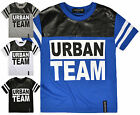 Boys Short Sleeved Urban TShirt New Kids Faux Leather Tee Tops Ages 4-14 Years