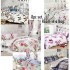8pc Complete Bedroom in a Bag, Duvet Cover, Curtains, Fitted Sheet & Pillowcases image