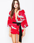 12/14/16 Geisha Girl Costume Japanese Chinese Oriental Kimono Ladies Fancy Dress