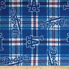 """Fleece Fabric Pre Cut Los Angeles Dodgers 60"""" W 100% Polyester MLB Licensed BTY!"""