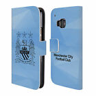 MANCHESTER CITY MAN CITY FC CREST GEOMETRIC LEATHER BOOK CASE FOR HTC PHONES 1
