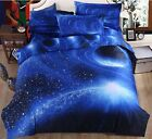 3D Galaxy Bedding Pillowcase Quilt Duvet Cover Set Or Flat Single/Double Size#a1