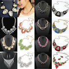 Women Charms Vintage Rhinestone Chain Crystal Choker Statement Bib Necklace New