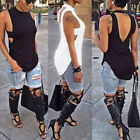 Sexy Women Ladies Summer Vest Top Sleeveless Blouse Casual Tank Tops T-Shirt