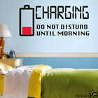"""CHARGING"" Removable Wall Decal for anyone's Bedroom"