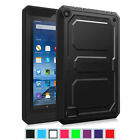 "Rugged Dual Layer Cover Shock Proof Case for Amazon Fire 7"" Tablet (5th Gen )"