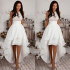 Fashion Women Irregular Bridesmaid Party Dress Sleeveless Cocktail Prom Gowns