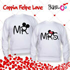 Dettagli su  FELYM-069 Coppia Felpe Love You and Me - MR. & MRS