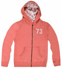 Girls Zip Front Peach Hoodie New Kids Lace Hooded Sweatshirt Ages 8-13 Years