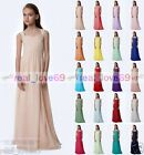 New Chiffon Bridesmaid Dress Junior Flower Girl Dress Princess Pageant 2-16 year