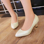 New Sweet Grace Candy Color Block Med Heel Office Lady Formal Shoes UK Size s864