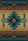 Blue Diamond Triangles Medallion Arrows Native American Area Rug Solid 530-29260