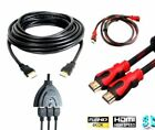 NEW Premium HDMI Cable v1.4 Gold High Speed HDTV UltraHD HD 1080p 4K 3D 1 to 20M
