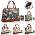 Pretty Vintage Retro Flower Floral Overnight Bowler Day Bag Travel Hand Luggage
