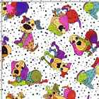 Dog Happy Patchwork Puppies Spots 100% Patchwork Cotton Fabric (Nutex)