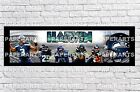 Personalized NFL Seattle Seahawks Name Poster with Border Mat Art Wall Banner $16.5 USD on eBay