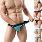 Mens Underwear Briefs Thongs Men's Gay Low Wrist Mesh Fashion Underpants M L XL