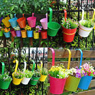 Metal Iron Flower Pot Hanging Balcony Garden Plant Planter Home Decoration New