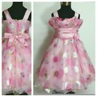 Kids Pinks Floral Princess Fairytale Party Flower Girls Dresses AGE 3,4,5,6,7,8Y