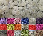 72 ARTIFICIAL FOAM ROSES ON LONG STEM WEDDING FLOWERS CRAFT CORSAGE CAKE/6.7CM