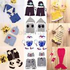Newborn Baby Girl Boy Crochet Knit Costume Photo Photography Prop Hats Outfits F