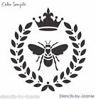 Laurel Wreath Joanie STENCIL Bee French Fleur Royal Crown Cottag Chic Pillow Art