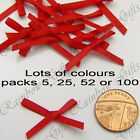 3mm RIBBON BOWS SATIN RIBBON BOWS WEDDING CARD MAKING SCRAPBOOKING