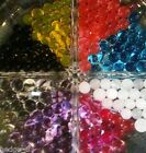 3 packs of Crystal Aqua Soil Water Beads -10 colours! Weddings, Parties, Events