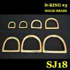 【#SJ18】Solid Brass D-Ring For Saddle Case ... High Quality Leathercraft Model #3