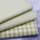 SAGE GREEN - VINTAGE KENT 2 YARN DYED GINGHAM - COTTON FABRIC cream ground