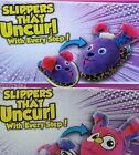 SILLY STEPS Slippers That UNCURL PURPLE LEOPARD PINK BUNNY Slip-In TODDLER