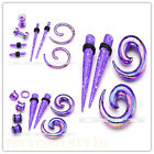 8pc Acrylic Spiral Taper Retainer Screw Ear Tunnel Plugs Stretching Expander Kit
