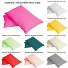 Pillow Case Single & Pair Plain Dyed Standard Pillow case/cover 20 Colours