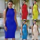 Sexy Women Sleeveless Bodycon Dress Bandage Cocktail Party Elastic ClubDress