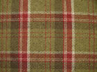 Argyll Red And Green Wool Effect Washable Thick Tartan Upholstery Curtain Fabric