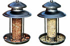 DELUXE STEEL LANTERN SHAPED WILD BIRD SEED OR NUT FEEDER STATION