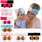 2X/Set Mom and Baby Turban Headband Set Baby Mommy Knotted Hairband 8 Colors JR