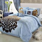 Lakhani Blue Comforter Bed In A Bag Set 8 Piece