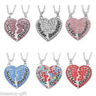 Chic Gift Mum Daughter Sister Diamond Crystal Heart Necklace Mother's Day Gift