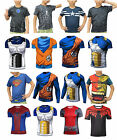 Children Kids Dragon Ball Son Goku Marvel Superheros Short T-Shirt Batman Vegeta