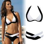 UK Sexy Womens Bandage Bikini Push Up Padded Beach Swimwear Triangle Bra Set
