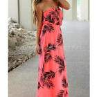 New Lady Fashion Sexy Summer Strapless Backless Long Maxi Dress Beach Sundress