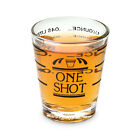 3QMart 45ml Mini Clear Measuring Shot Glass Cup Measure Jigger for Liquid & Dry